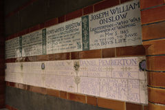 Postman's Park -  Memorial to Heroic Self Sacrifice, London, Uk Royalty Free Stock Photos