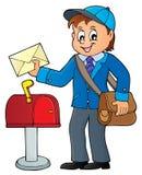 Postman topic image 1 stock illustration