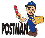 Postman wit his name Royalty Free Stock Images