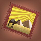 Postmark of Egypt Royalty Free Stock Image