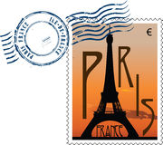 Postmark from france vector illustration