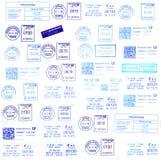 postmarks сини предпосылок стоковые изображения rf