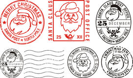 Postmarks - merry christmas Royalty Free Stock Photography