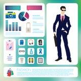 Postmode infographics Satz Lizenzfreie Stockfotografie