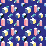 Postmodern 80s style seamless pattern Royalty Free Stock Photos