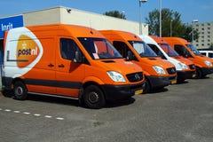 PostNL-Lieferwagen Stockfotografie