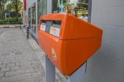 Postnlpostbus bij het Nederland 2018 van Amsterdam royalty-vrije stock afbeelding