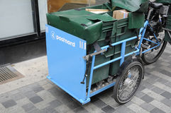 POSTNORD MAIL BIKE Royalty Free Stock Images