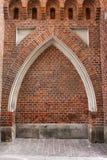 Posto adatto dell'arco gotico in parete fotografia stock libera da diritti