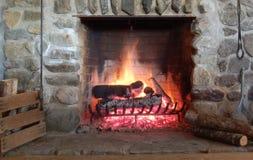 Posto Burning del fuoco Immagini Stock