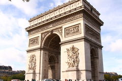 Posto Charles de Gaulle di Parigi fotografia stock