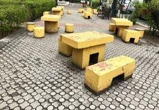 Posto da camminare e riposare alla via a Yerevan immagine stock libera da diritti