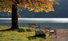 Posto da rilassarsi, schliersee del lago, Baviera Immagine Stock