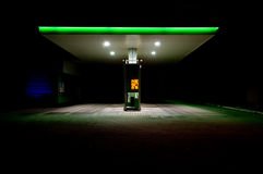 Posto de gasolina. imagem de stock royalty free