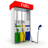 posto de gasolina 3d Fotos de Stock Royalty Free