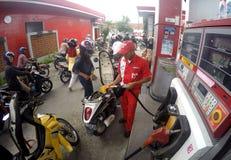 Posto de gasolina Fotos de Stock Royalty Free