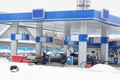 Posto de gasolina Imagens de Stock Royalty Free