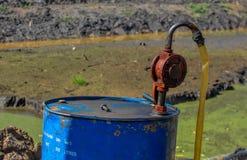 Posto de gasolina abandonado Foto de Stock Royalty Free