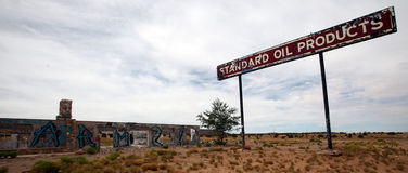 Posto de gasolina abandonado, Utá Imagens de Stock Royalty Free