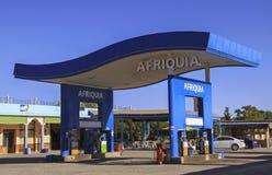 Posto de gasolina de Afriquia em Casablanca Marrocos foto de stock