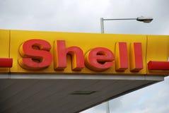 Posto de gasolina da gasolina do escudo Imagens de Stock