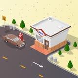 Posto de gasolina da ilustração Fotos de Stock Royalty Free