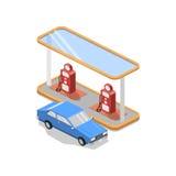 Posto de gasolina da ilustração Imagens de Stock Royalty Free