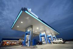 Posto de gasolina de Gazprom - Roménia Imagem de Stock Royalty Free