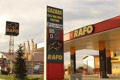 Posto de gasolina de Rafo Foto de Stock Royalty Free