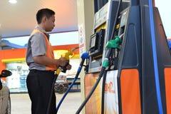Posto de gasolina do BHP Imagens de Stock