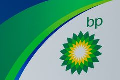 Posto de gasolina do retalho de BP BP ? um do ` s do mundo que conduz empresas petrol?feras de petr?leo e g?s integradas mim fotografia de stock royalty free