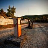 Posto de gasolina do vintage fotografia de stock