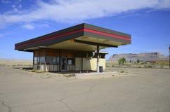 Posto de gasolina fechado Fotos de Stock