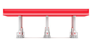 Posto de gasolina moderno no branco Imagens de Stock