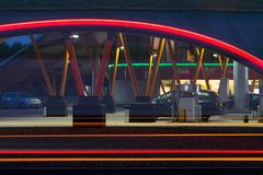 Posto de gasolina novo em Pesse Fotografia de Stock