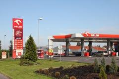Posto de gasolina - Orlen imagens de stock royalty free