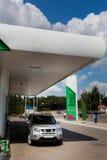 posto de gasolina para abastecer a gasolina e o diesel foto de stock royalty free