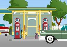 Posto de gasolina retro Imagem de Stock