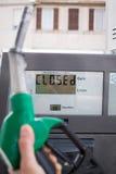 Posto de gasolina vazio Fotografia de Stock