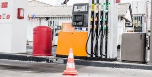 Posto de gasolina vazio Fotos de Stock