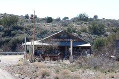 Posto de gasolina velho Fotos de Stock Royalty Free