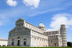 Posto dei miracoli e della torre pendente, Pisa, Italia Fotografia Stock Libera da Diritti