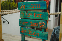 Posto del caffè fotografia stock libera da diritti