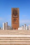 Posto del mausoleo Mohammed V e la torretta Fotografia Stock Libera da Diritti