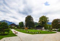 posto del villaggio di Altaussee, Austria Fotografia Stock