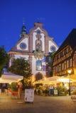 Posto della chiesa con la chiesa di St Martins in Ettlingen Fotografia Stock