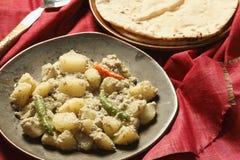 Posto di Aloo - un piatto della patata dal Bengala Fotografia Stock
