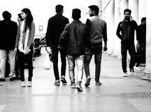 Posto di Connaught delle vie di Delhi immagine stock libera da diritti