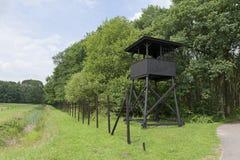Posto di guardia al precedente campo di concentramento Westerbork Fotografia Stock Libera da Diritti