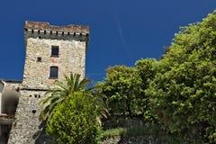 Posto di guardia antico nel villaggio di Framura, vicino a Cinque Terre fotografia stock libera da diritti